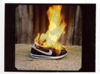 burning sneaker