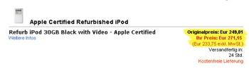 refurbished ipod