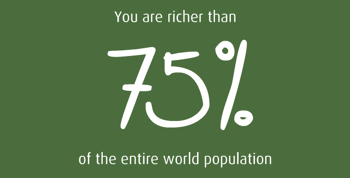 richer than 75%