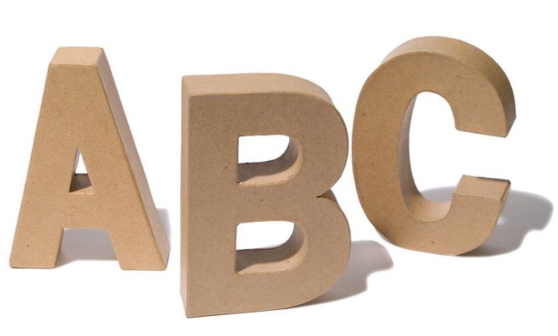 Zahlen amp Buchstaben aus Holz kaufen Holzbuchstaben zum