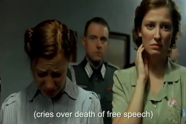 (cries over death death of free speech)