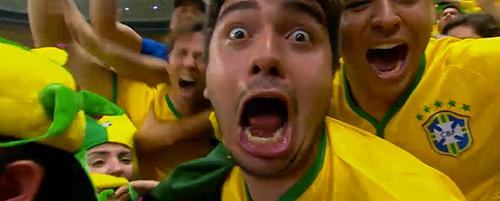Brasilianische Fans jubeln