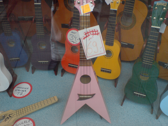 flying v ukulele