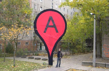 google maps art