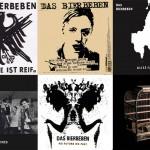 Die Cover von 'Das Bierbeben' spielen auch oft mit Verweisen auf alte Deutschpunk-Platten