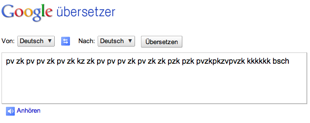 Google übersetzer Rap